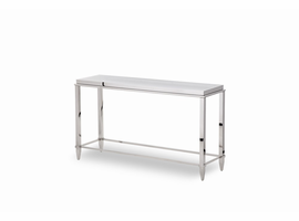 Modrest Agar Modern Glass & Stainless Steel Console Table