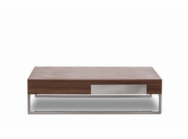 Modrest Agate - Modern Walnut Coffee Table