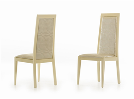 Modrest Ancona Modern Beige Crocodile Eco-Leather Dining Chair