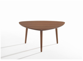 Modrest Bolan Mid-Century Modern Walnut Coffee Table