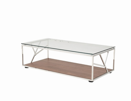 Modrest Cressida Modern Walnut Coffee Table
