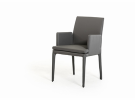 Modrest Dex Modern Grey Leatherette Dining Chair