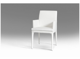 Modrest Dex Modern White Leatherette Dining Chair