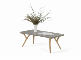 Modrest Dondi Concrete & Natural Oak Coffee Table