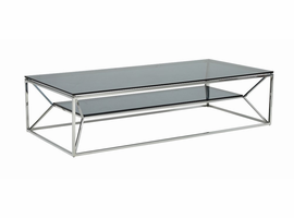 Modrest Facet Contemporary Smoked Glass Coffee Table