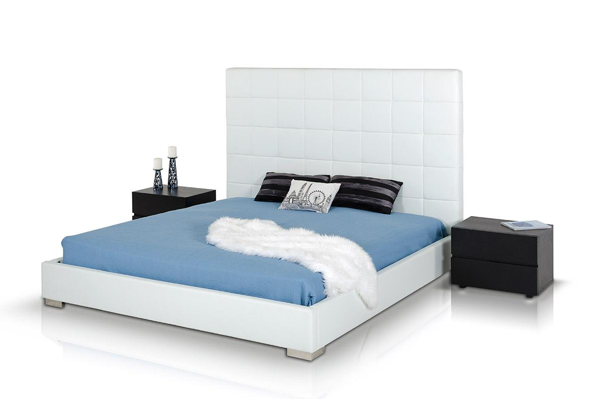Modrest Francis Modern White Leather Bed