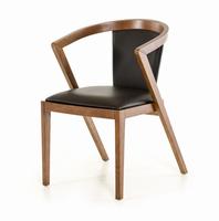 Modrest Gregor Modern Black & Walnut Dining Chair