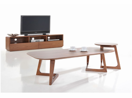 Modrest Jett Modern Walnut Coffee Table