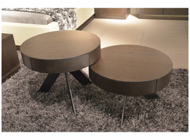 Modrest Kell Contemporary Wenge Coffee Table Set