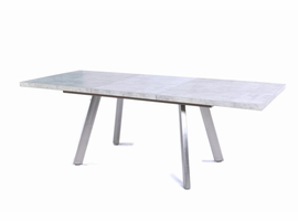 Modrest Lennon Modern Stone Grey Extendable Dining Table