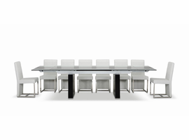 Modrest Lisbon - Extendable Glass Dining Table