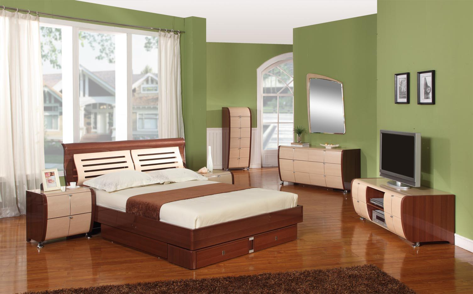100 Lacquer Bedroom Set Natural Grey Lacquer