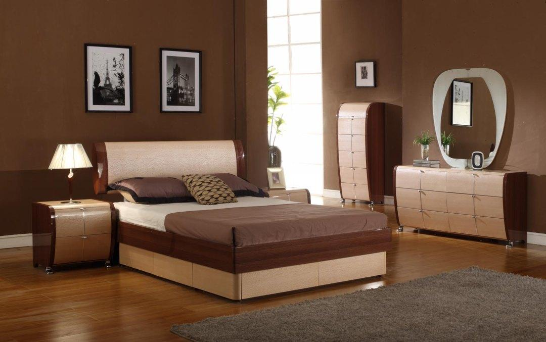 Modrest maya modern lacquer bedroom set for Catalogue chambre a coucher