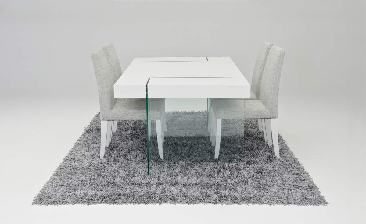 Modrest modern white floating dining table for Floating dining table
