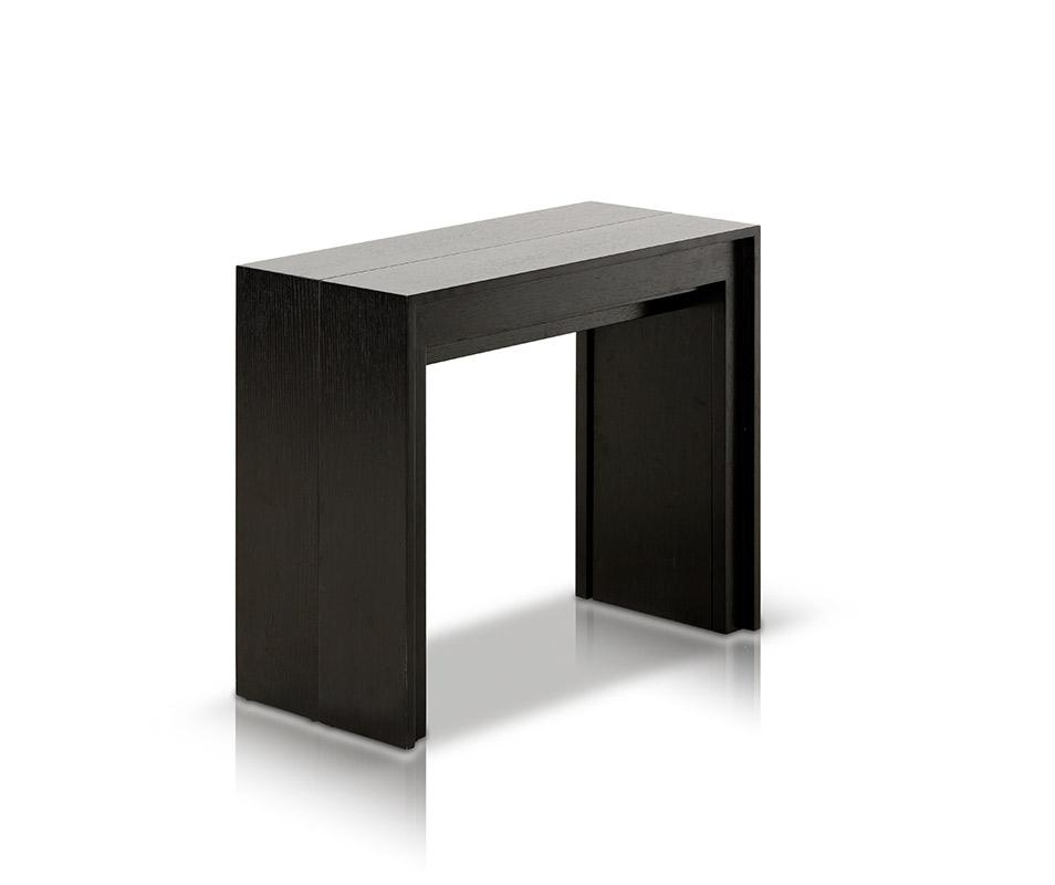 morph - modern ultra-compact extendable black dining table