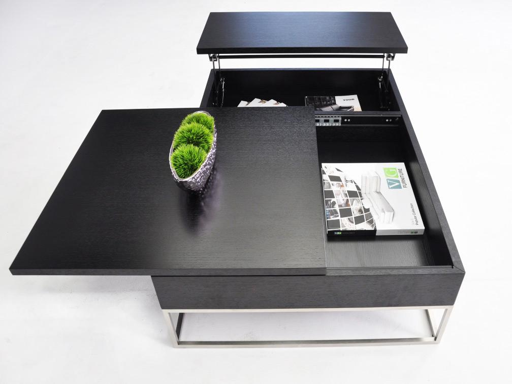 p209a - modern black coffee table