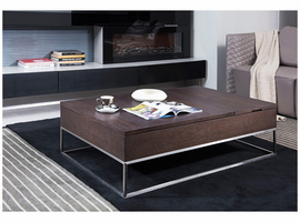 Modrest P509A Contemporary Brown Oak Coffee Table