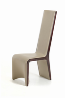 Modrest Pacer - Modern Taupe & Ebony Dining Chair (Set of 2)