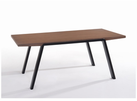 Modrest Quinn Modern Walnut & Black Dining Table