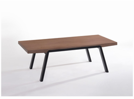 Modrest Rhett Modern Walnut & Black Coffee Table