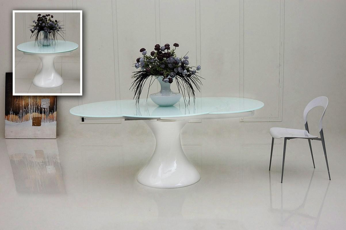 White lacquer dining table round - White Lacquer Dining Table Round 4