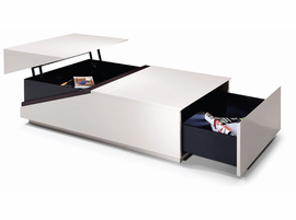 Modrest SE152A - Modern Coffee Table w Storage Compartments