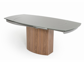 Modrest Swing - Modern Grey Walnut Veneer Dining Table