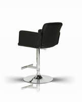 Modrest Lindy Contemporary Black Leatherette Bar Stool