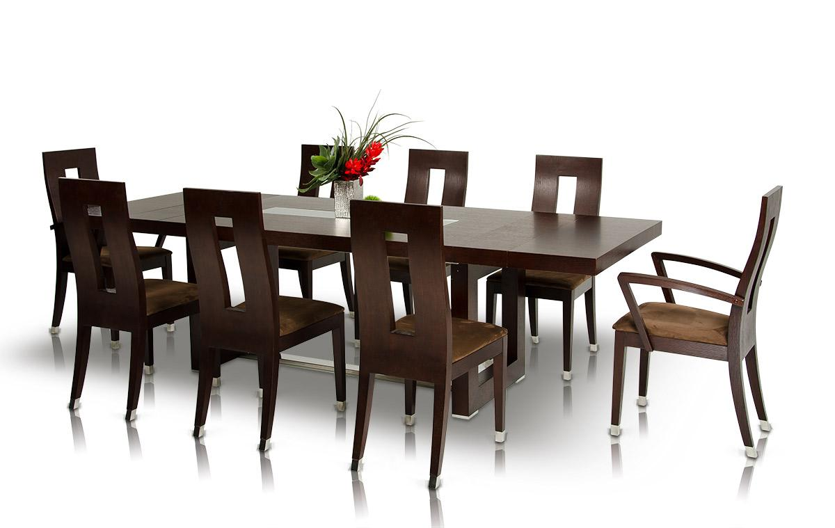 Modrest Thor Modern Wenge Table and 6 Chair Dining Set