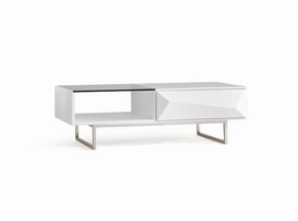 Modrest Vanguard Modern White Coffee Table