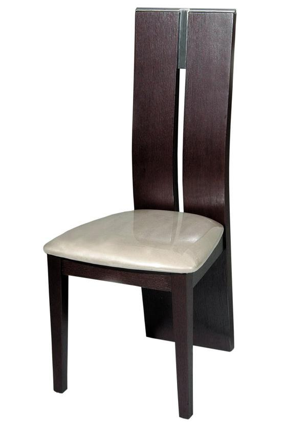 Modrest Waves Modern Wood Dining Chair - Contemporary wooden dining chairs