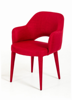 Modrest Williamette Modern Red Fabric Dining Chair