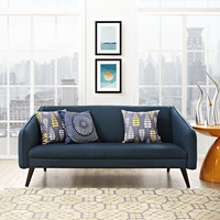 MODWAY SLIDE UPHOLSTERED SOFA IN AZURE, GRAY, LAGUNA AND BEIGE