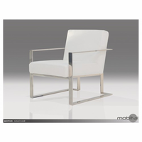 Motivo Lounge Chair White Leatherette