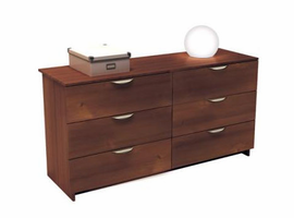 Nexera 401206 Nocce 6 Drawer Double Dresser