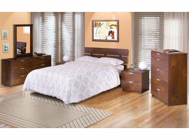 """Nexera 401219 Nocce 60"""" Queen Size Bed with Headboard"""