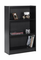 Nexera Essentials Black 48'' Tall Bookcase with 1'' Thick Shelves