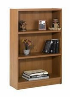 Nexera Essentials Cappuccino 48'' Tall Bookcase with 1'' Thick Shelves