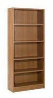 Nexera Essentials Cappuccino 72'' Tall Bookcase with 1'' Thick Shelves