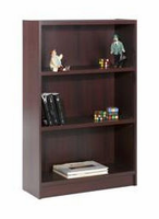Nexera Essentials Mohagany 48'' Tall Bookcase with 1'' Thick Shelves
