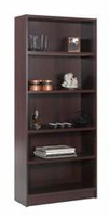Nexera Essentials Mohagany 72'' Tall Bookcase with 1'' Thick Shelves