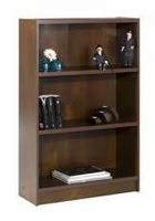 Nexera Essentials Truffle 48'' Tall Bookcase with 1'' Thick Shelves