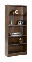 Nexera Essentials Truffle 72'' Tall Bookcase with 1'' Thick Shelves