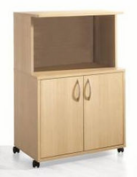 Nexera Microwave�Cart in Natural Maple