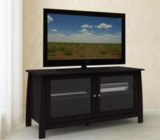 Nexera Profile Espresso 49''�TV�Console�with�2�Glass�Doors
