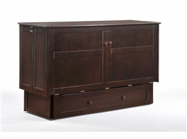 Night & Day Furniture Murphy Cabinet Bed (Clover) Chocolate