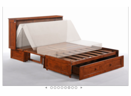 Night & Day Furniture Murphy Cabinet Bed CHERRY Murphy Cabinet Bed