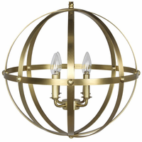 Noir Furniture 353 Pendant, Small, Antique Brass