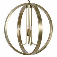 Noir Furniture Abel Pendant, Antique Brass