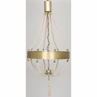 Noir Furniture Alec Chandelier, Antique Brass, Metal